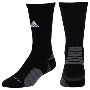 adidas Menace Crew Athletic Socks Black Large